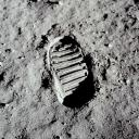 Buzz Aldrin's footprint on the Moon, from Apollo 11