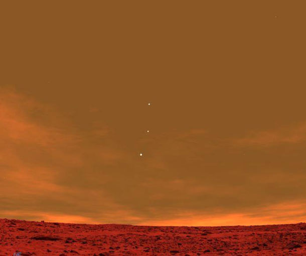 what does jupiter look like from mars - photo #44