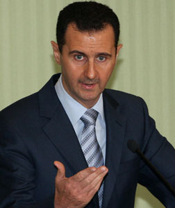 Syrian President Bashar Assad. Click image to expand.