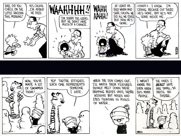The appeal of Calvin and Hobbes.