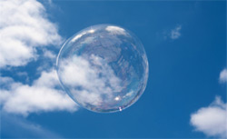 Large soap bubble.