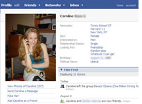 Caroline Giuliani's Facebook Profile. Click image to expand.
