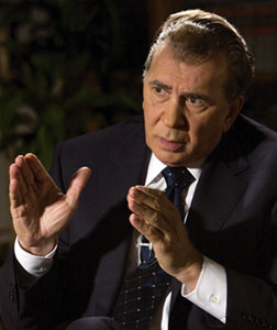 Frank Langella as Richard Nixon in Frost/Nixon. Click image to expand.