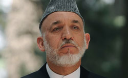 Afghan President Hamid Karzai. Click image to expand.
