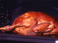 A roasting chicken