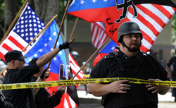 Neo Nazis protest. Click image to expand.