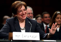 Photograph of U.S. Supreme Court Justice nominee Elena Kagan.  Click image to expand.