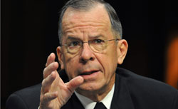 US Chairman of the Joint Chiefs of Staff, Admiral Mike Mullen, testifies before the US Senate Armed Services Committee. Click image to expand.