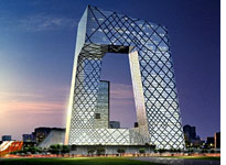 CCTV Headquarters in Beijing, by Rem Koolhaas. Click image to expand.