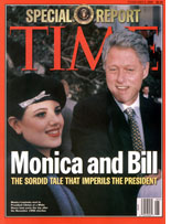 Bill Clinton and Monica Lewinsky.