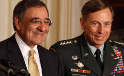 CIA Director Leon Panetta (L) and U.S. Army Gen. David Petraeus. Click image to expand.