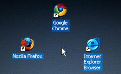 Computer desktop with icons. Click image to expand.