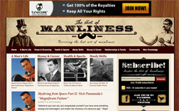 The Art of Manliness Web site. Click image to expand.