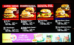 McDonald's menu. Click image to expand.