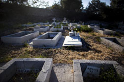 Cemetery in Mytilini, Lesbos, Greece. Click image to expand.