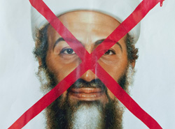 Crossed out Osama bin Laden. Click image to expand.