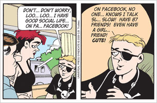 TODAY'S DOONESBURY: Networked.