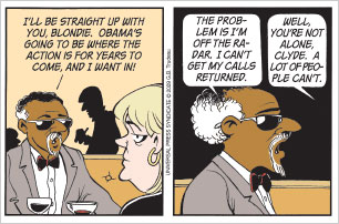 TODAY'S DOONESBURY: Seems like a freeze-out.